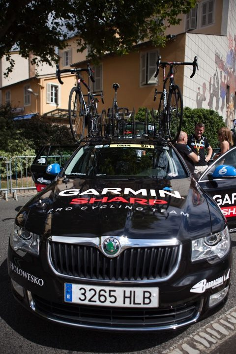 Team Garmin's support vehicle.