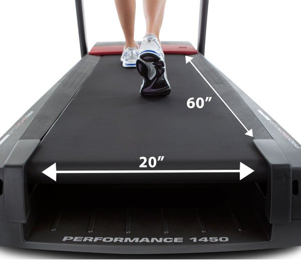 "20"" x 60"" 2-Ply Commercial Treadbelt This heavy-duty treadmill belt is designed to operate quieter than a normal treadbelt—just one more vital component of a balanced drive system."