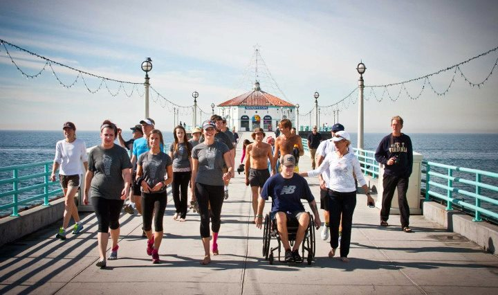 Entertainment Rae Heim is not a typical 18-year-old; yesterday she finished a seven month journey running barefoot across the U.S. at the Manhattan Beach pier! Thanks to Rae's efforts, more than $10,000 will be donated to the Soles4Souls charity to help people in need