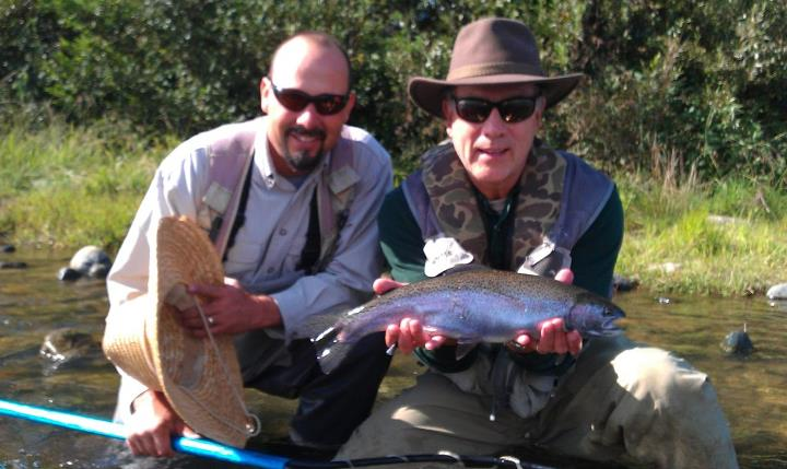 Flyfishing AFFC Client w/ Feather River beauty. Guide Dave B.
