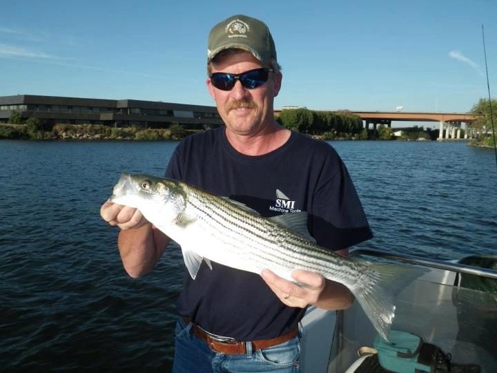 Flyfishing Theres still time to get that trip in on the Delta! Great top water action for largemouth and some beautiful stripers like this one. Great fish Tim! Book your next trip with AFFC & ask for Capt. Mark Pinto!