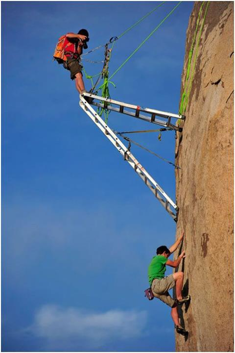 Climbing just another day at the office with Alex Honnold...