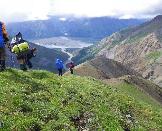 Camp and Hike This is on the Donjek Route in the Yukon this past July! At about 5,000 ft and a marvelous view overlooking the Duke River!