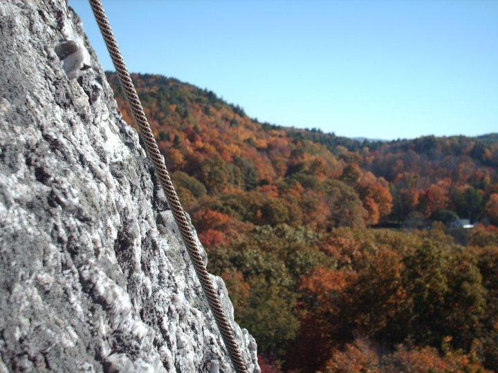 Climbing Chapel Ledge in Western, MA. I took a random photo and BAM! There it was.