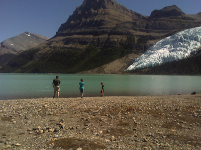Camp and Hike Alright kids, let's swim to the glacier now!