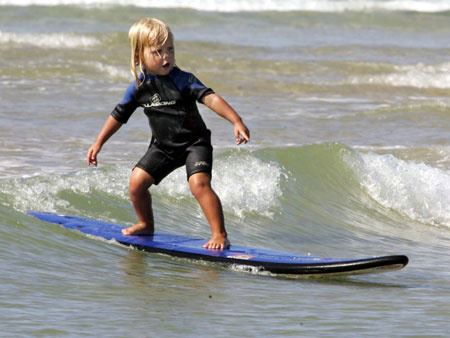Surf Nothin' quite like a grommet putting me to shame to motivate...Do you have a little one that loves to surf? Post their pictures to our wall, let's see them in action!