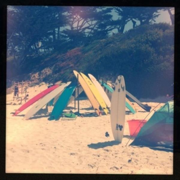 "Surf I want to sleep under a ""roof"" of surf boards :)"