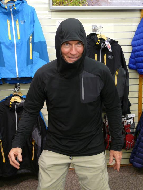 Entertainment Headed into colder weather? The Arc'teryx Stryka hoody is heavy enough to really be useful in the cold – but not so heavy you are going to want to take it off every time you start working hard, the stretchy fabric feels great and the balaclava style hood