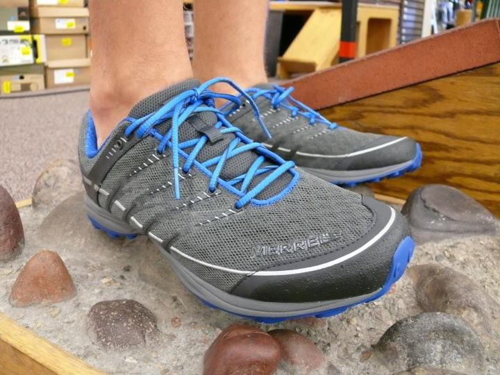 Camp and Hike We are seeing more and more footwear that takes the low drop associated with 'barefoot'/minimal running shoes and pairing that with a modest amount of midsole cushioning to provide the cushion and protection that many people want on the trail – take a loo