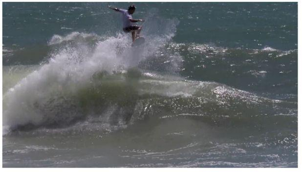 Surf We won't be seeing Julian in the quarters this weekend, but watch him go bonkers on his backhand in this sweet clip. http://ow.ly/i/umiC http://vimeo.com/37712854