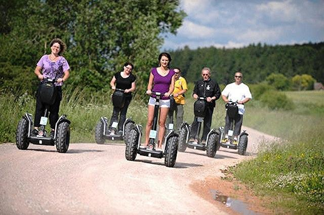 Entertainment Companies are starting to offer hiking tours through the countryside on a Segway. What do you think of this?
