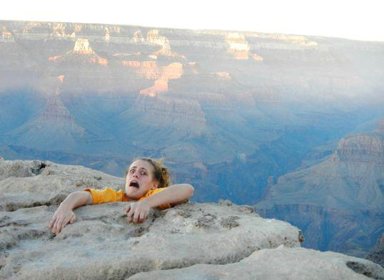 "Climbing Too funny. -> ""Mom was worried about my trip to the Grand Canyon, so I sent her this picture."""