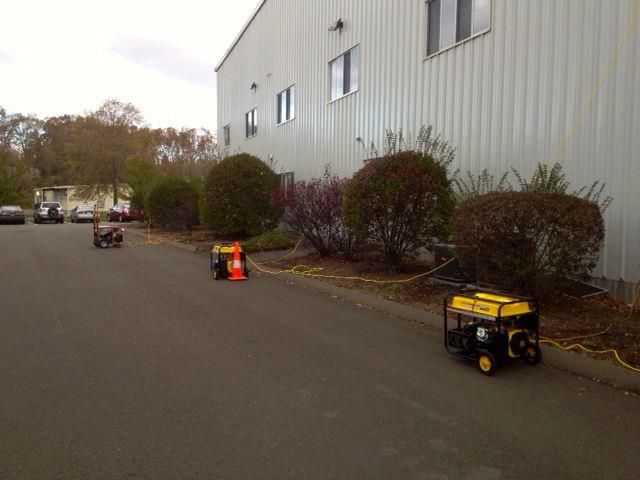 Entertainment The power is still out in our Guilford offices and warehouse, but the generators are on!