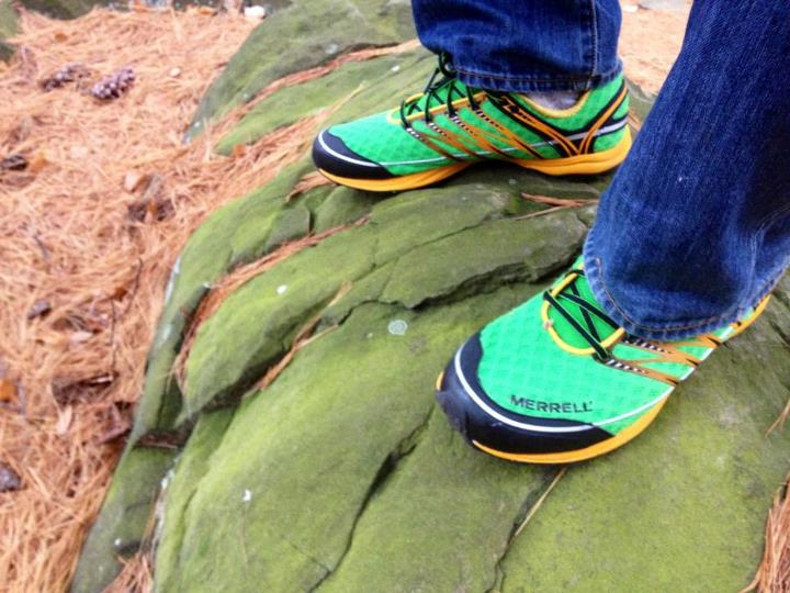 Camp and Hike Hike in New Haven with the new Merrell's. Love the color against the trail leaves.