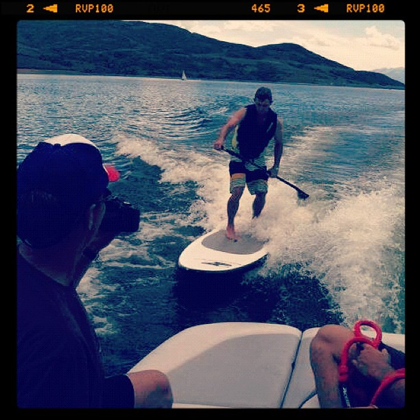 Wake Testing SUP's at OR. Tough day at the office.