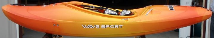 Kayak and Canoe Continuous progressive rocker.