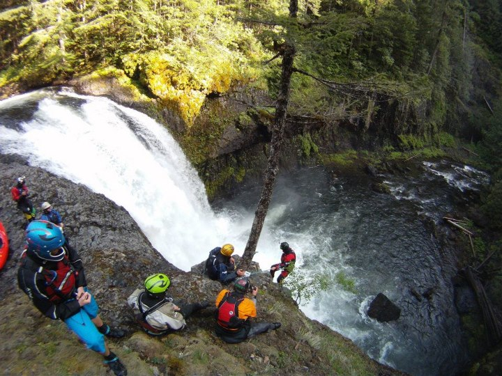 Kayak and Canoe Final Falls on the Salmon River Gorge - Brian Burger
