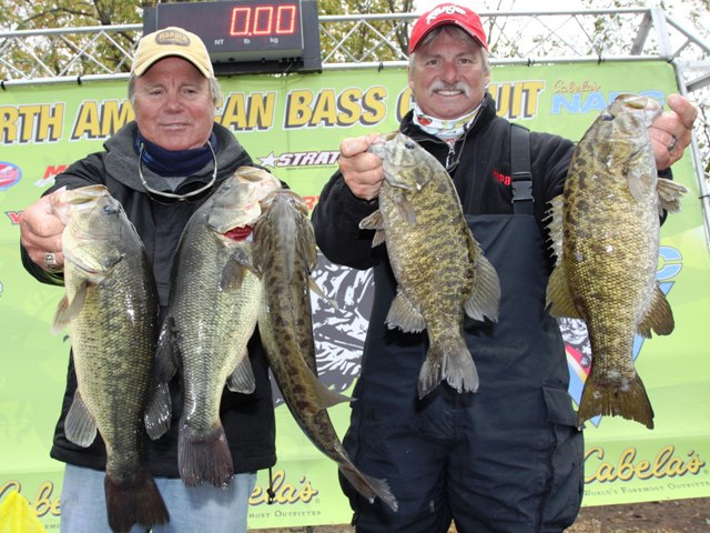 Fishing Rapala's very own Mark Fisher and Rapala Pro Scott Bonnema battled some extreme MN fishing conditions in the North American Bass Circuit Championship on the Mississippi River. They managed to catch some impressive large and smallmouth bass on X-Raps, and