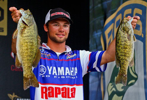 Fishing Day one weigh-in Rapala Pro Angler Brandon Palaniuk  (photo courtesy of bassmaster.com)