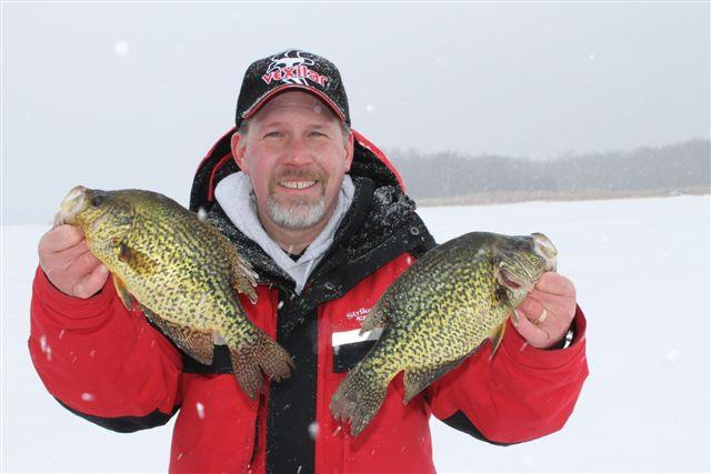 Fishing Jason Green with a nice pair of crappies!