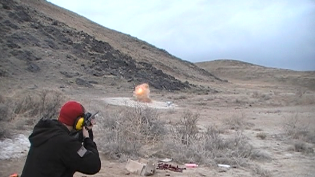Extreme perfectly timed tannerite explosion