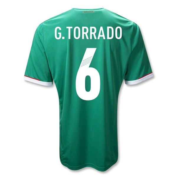 Sports Youth G. TORRADO Mexico Home Soccer Jersey 2011/2012