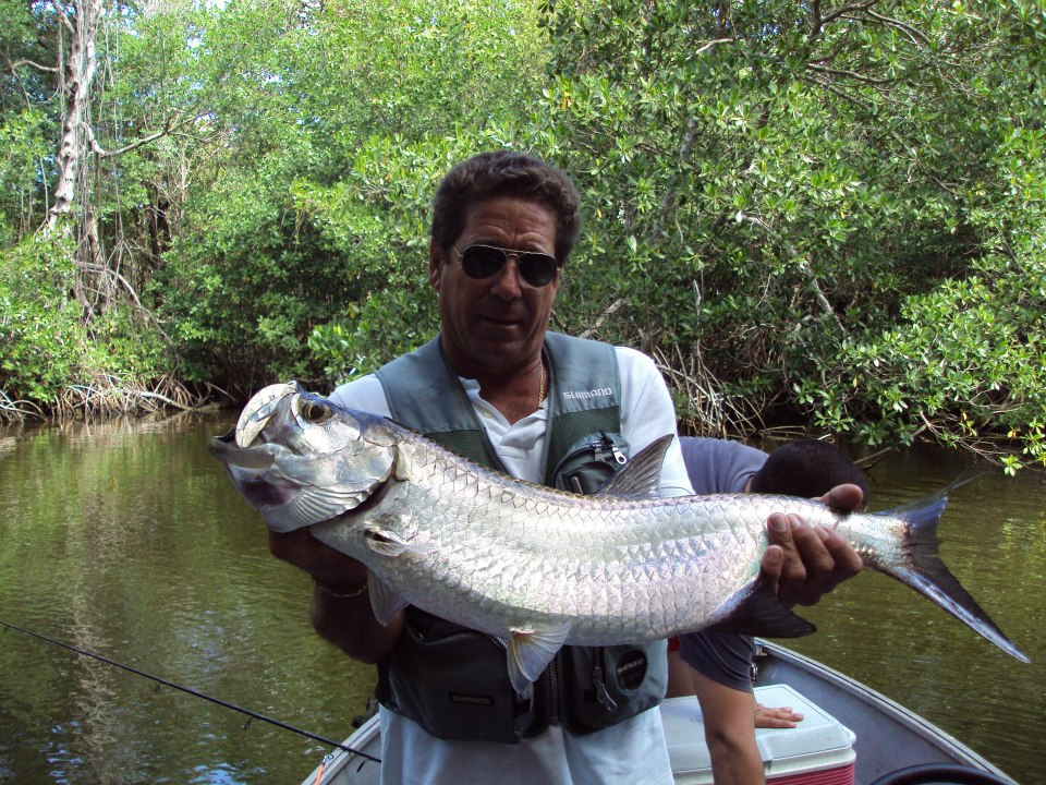 Fishing this is the Tarpon, the best sport fish, you not have Idea how strong is,  this fish we find in the river and ocean,. it is in Cuba in the Matanzas province, Rio Hatiguanico..