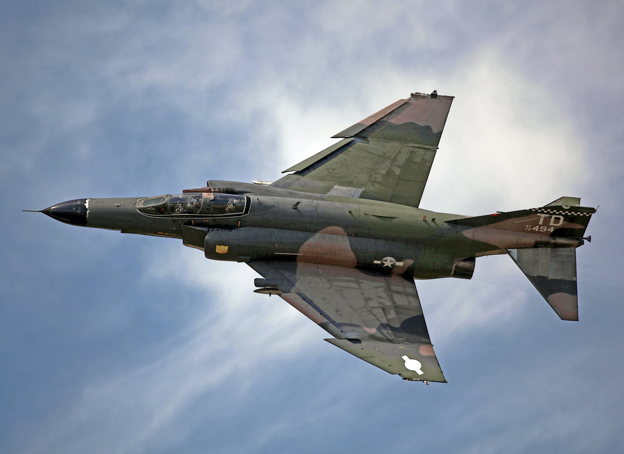 Guns and Military This QF-4E was delivered during the Vietnam War