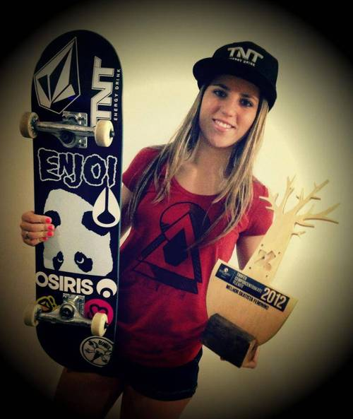 Skateboard A huge congratulations to my sweetheart Leticia. Skater of the year: Brazil, so proud.