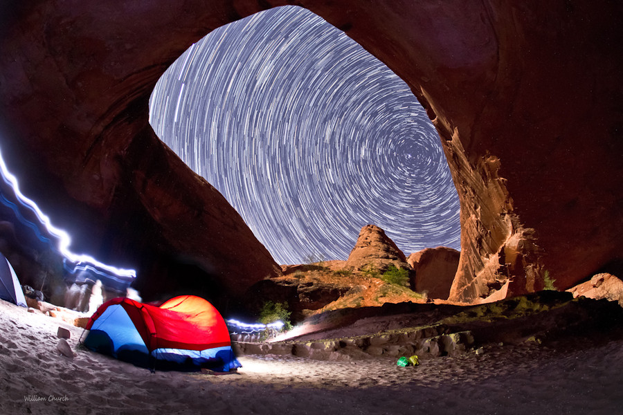 Camp and Hike Coyote Gulch Star Trails