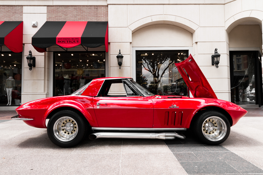 Auto and Cycle Candy Red 1967 Corvette Stingray