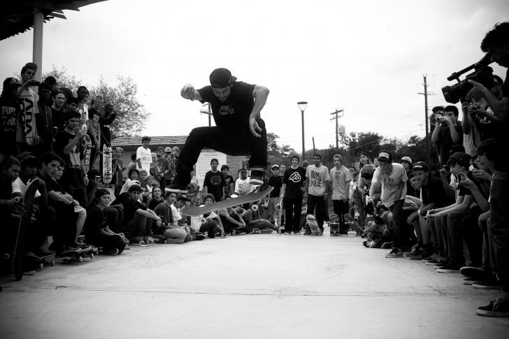 Skateboard Nike Skateboarding pro Paul Rodriguez getting down with a game of SKATE in Austin, Texas.