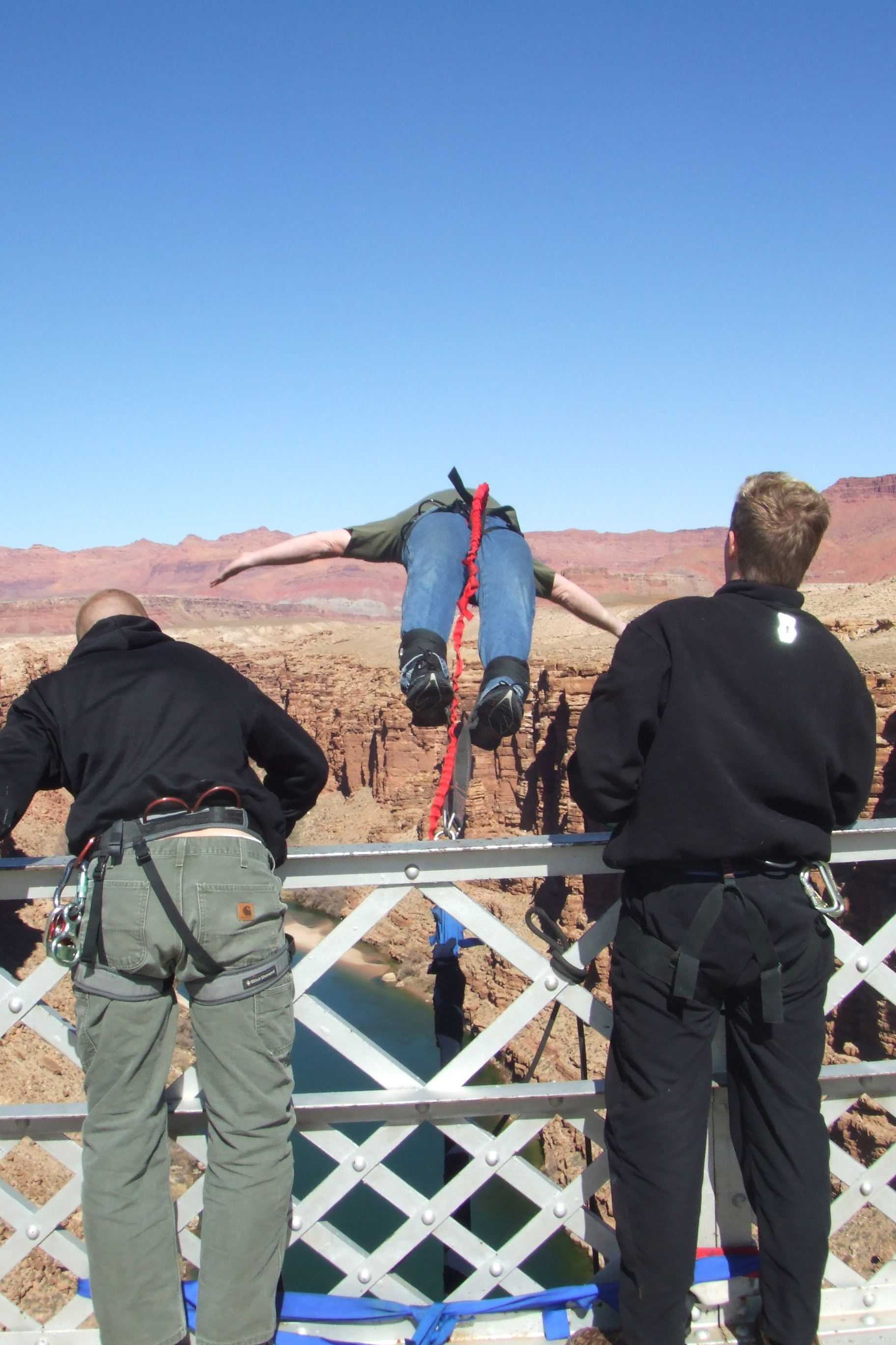 Extreme Bungee off the Navajo Bridge, AZ