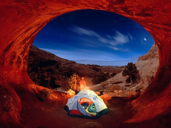 Camp and Hike Camping in Arches National Park