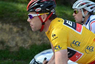 Cadel Evans (BMC) remained focussed on the overall