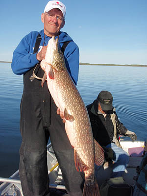Fishing caught my first really big pike here, Lake Athabasca Saskatchewan