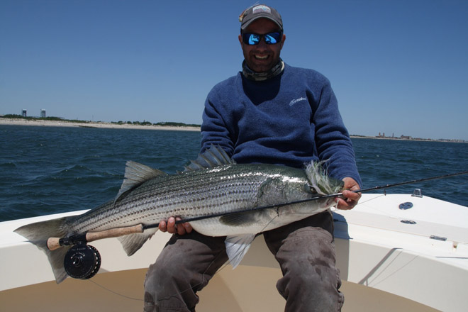 Flyfishing That's one big Striper!