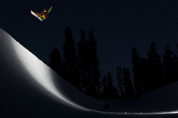 Snowboard Cool pic.  No light, no problem. PHOTO: Ashley Barker