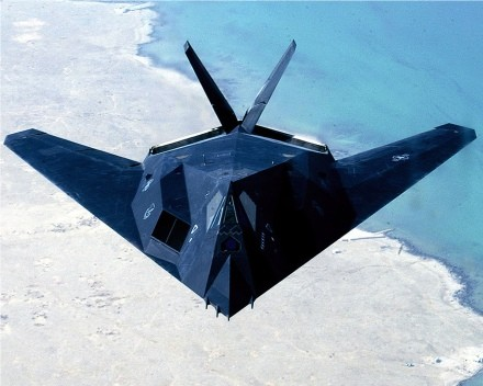Guns and Military F-117 stealth fighter