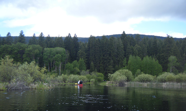 Kayak and Canoe Malone Springs on the Upper Klamath