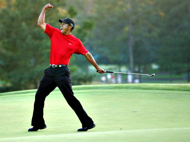 Golf Tiger winning the Masters
