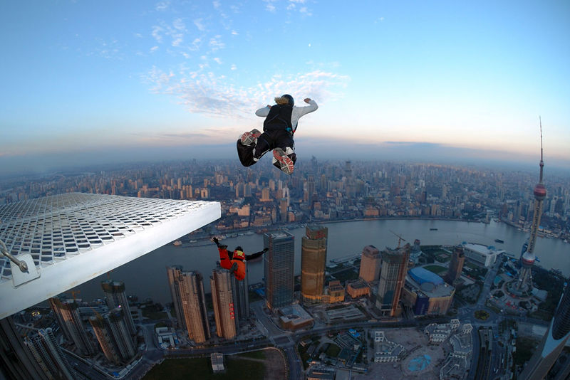 Extreme basic base jumping :)