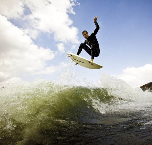 Surf Chaze Hazen pulling a super stylee wake surfing air.