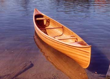 Kayak and Canoe Cedar Strip Canoe