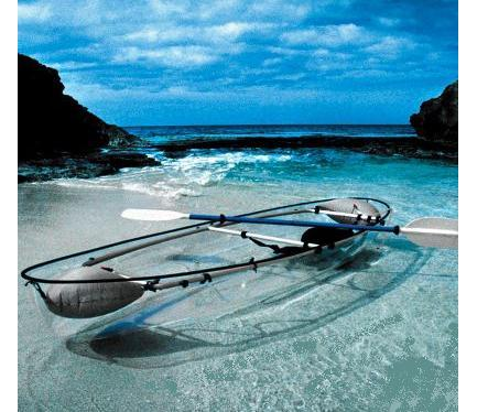 Kayak and Canoe See-through canoe.. pretty cool
