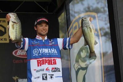 Fishing BULL SHOALS, AK -- Brandon Palaniuk was the last angler to launch his boat for the Bassmaster Elite Series TroKar Quest on Bull Shoals Lake in Mountain Home, Ark., today, and he was the last to weigh-in, but his Day 1 finish was first with a catch of  21