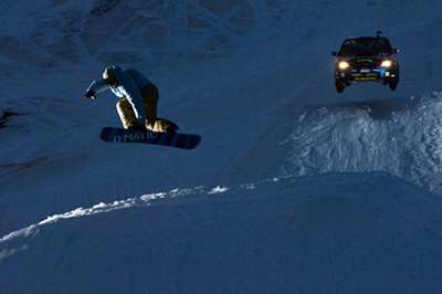 Snowboard great shot..
