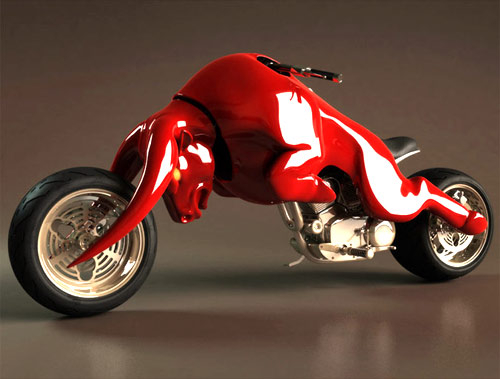Auto and Cycle Red Bull Motorcycle Concept