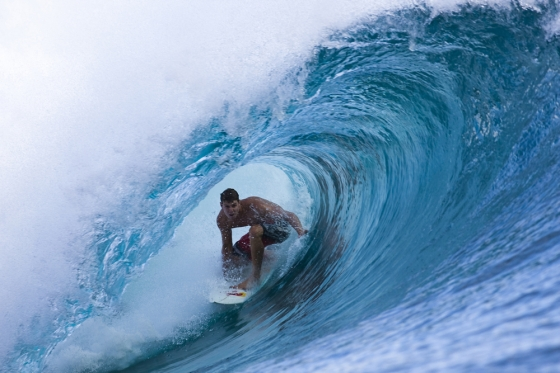 Surf Ian Walsh in action on Red Bull Minor Threat surf trip, in Indonesia