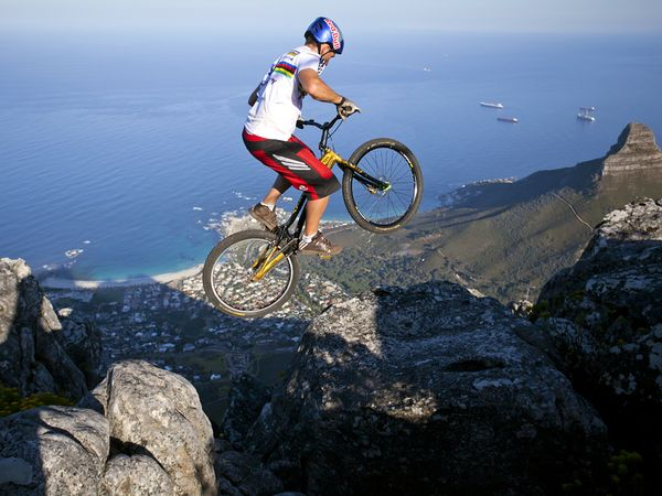 """Riding on top of Table Mountain was something I had to do,"" says professional mountain biker Kenny Belaey."